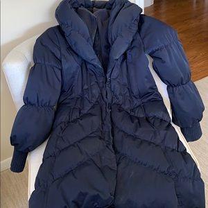 Feminine and warm puffer down coat